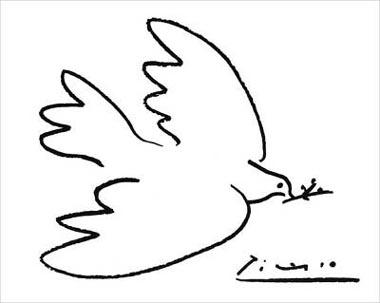 La colombe de la paix par Picasso